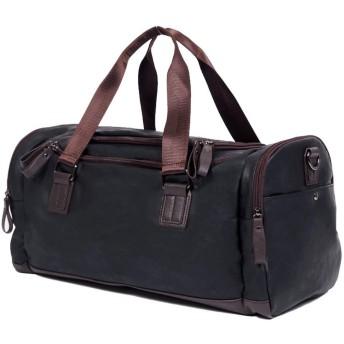 QTMIAO-Bags メンズショルダーバッグ斜めの大容量多機能ハンドバッグレジャー旅行バッグ (Color : Black)