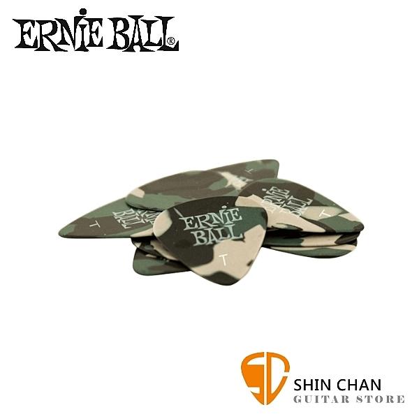 【缺貨】ERNIE BALL 9221 迷彩彈片 PICK 六片一組 CAMOUFLAGE【厚度:T(0.45mm)】