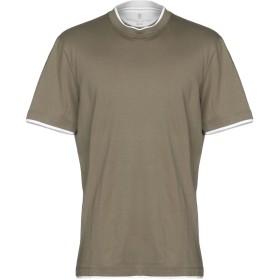 《セール開催中》BRUNELLO CUCINELLI メンズ T シャツ ミリタリーグリーン S コットン 100%