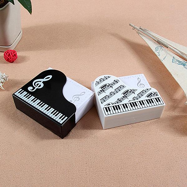 【小叮噹的店】台製 KM100 便條盒/便條紙 鍵盤便條盒+音符便條紙