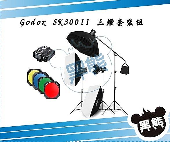 黑熊館 Godox 神牛 SK300II 三棚燈套裝組 棚燈集光罩 八角柔光箱 燈架 人像攝影 商攝 食品攝影