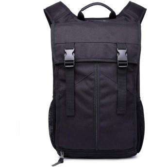 QTMIAO-Bags オックスフォードの布のショルダーバッグメンズアウトドアレジャー多機能トラベルバックパック登山バッグ (Color : Black)