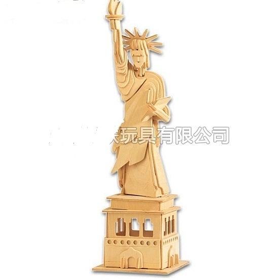 【協貿國際】3D立體拼圖自由女神塑像(3入)
