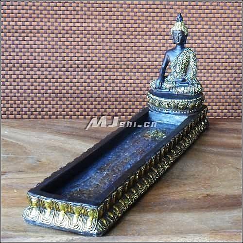 泰式風情 家居飾品 工藝擺件 樹脂 坐佛香座