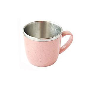 麥纖維304不鏽鋼馬克杯 粉 250ml
