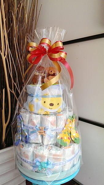 1972元 / 熊愛你寶寶尿布蛋糕(1個) 結婚用品 婚禮小物 禮贈品 ht-0089
