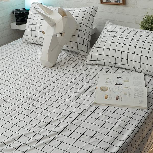 Cube&Line  枕套乙個  四季磨毛布 北歐風 台灣製造 棉床本舖