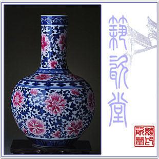 景德鎮陶瓷  青花王工藝品擺件