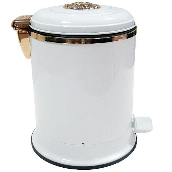 專櫃正品歐式垃圾桶6L腳踩(紅古銅)