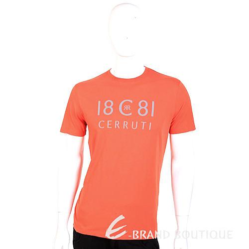CERRUTI 1881 T-Shirt 橘色字母LOGO短袖上衣 1420068-17