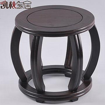 紅木工藝品*黑檀實木凳子