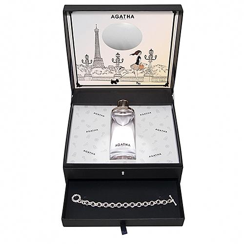 【AGATHA】L'amour a paris 真愛巴黎 香水禮盒(100ml+品牌手鍊)