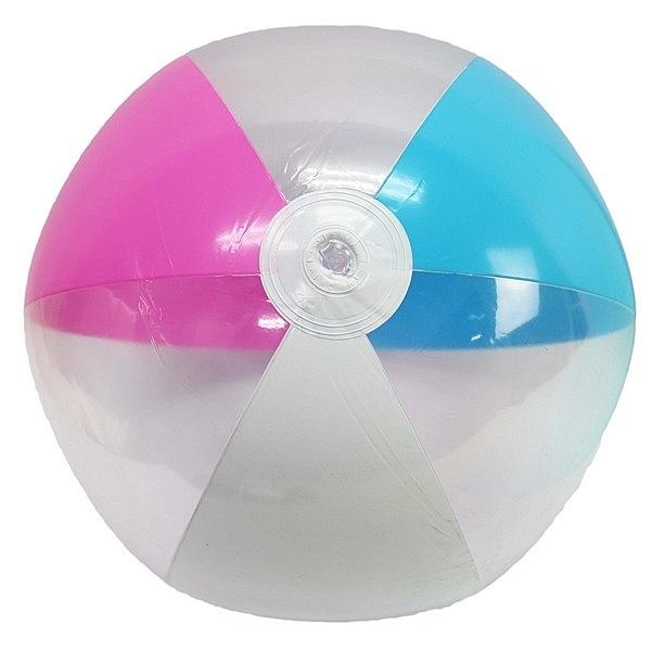 特大四色沙灘球 吹氣海灘球 直徑約40cm/一個入{促80} 充氣玩具球 充氣球-YF14639