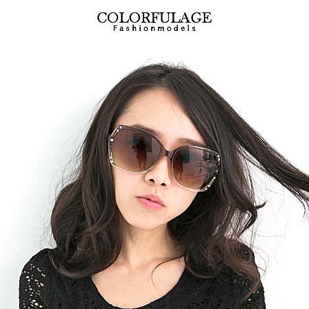 MIT台灣製墨鏡 鏤空崁入水鑽太陽眼鏡 名媛小臉必備 柒彩年代【NY223】