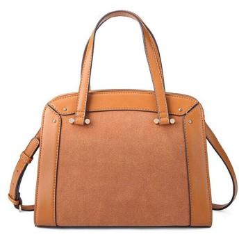 女性のバッグレトロステッチハンドバッグファッション野生の斜めのクロスバッグショルダーバッグ-brown