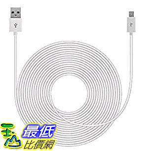 [美國直購] Mission Cables MC-4 連接線 白色 20ft USB Power Cable for Nest Cam , 20 FT
