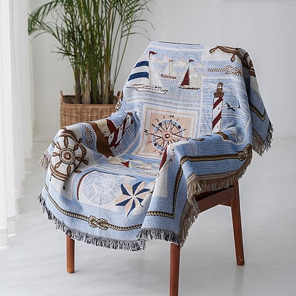 北歐純色緹花沙發巾 沙發布 全蓋沙發套 沙發墊 防塵布 線毯7 (90*150cm)