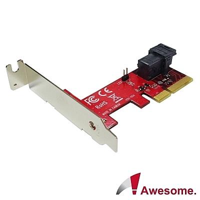 Awesome PCIe 3.0 x4轉MiniSAS HD36P U.2 NVMe轉接卡