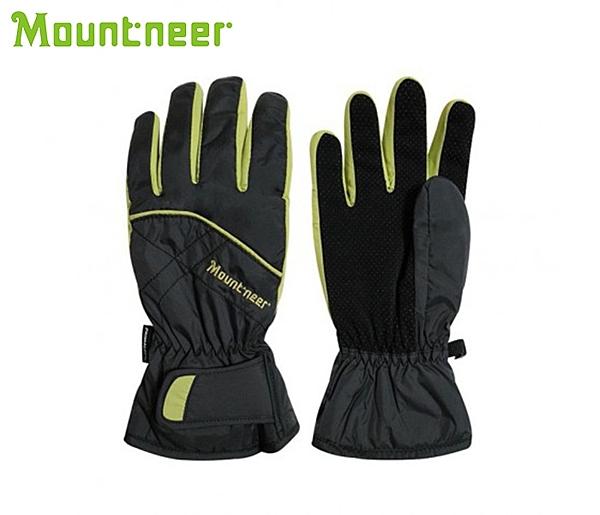 丹大戶外【Mountneer】山林休閒 Primaloft防水手套 12G01-69 深灰/果綠