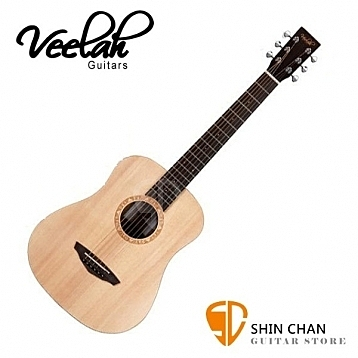 Veelah baby吉他 Togo-S 34吋旅行小吉他/雲杉面單板(Baby吉他) 附原廠Veelah吉他袋