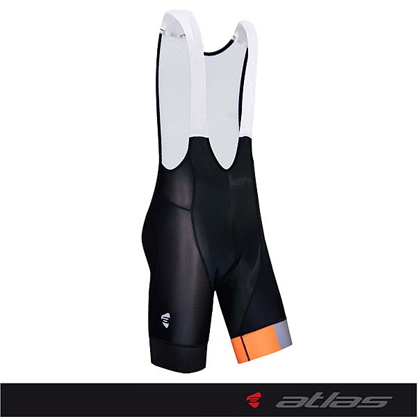 【亞特力士ATLAS】五分透氣網吊帶褲 30℃~38℃(五代)   SB-703-O(橘)