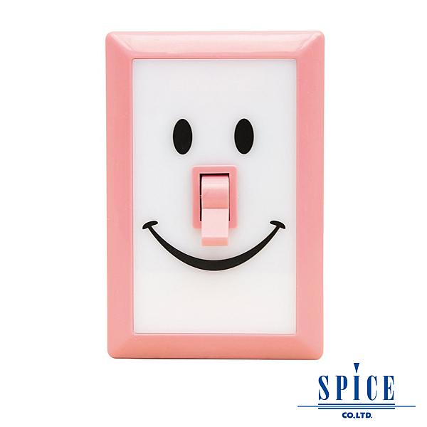 【日本 SPICE】SMILE 桃粉色 微笑開關 LED 燈