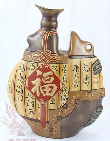 【協貿國際】孔雀福順原創手工陶藝陶器