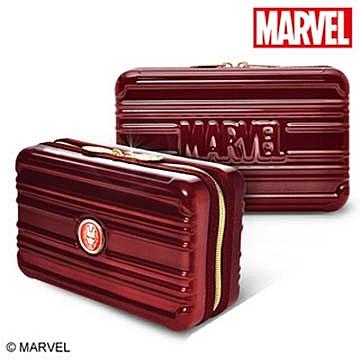 DESENO Marvel 漫威 鋼鐵人 復仇者系列 立體硬殼航空包 盥洗包 收納包 化妝包