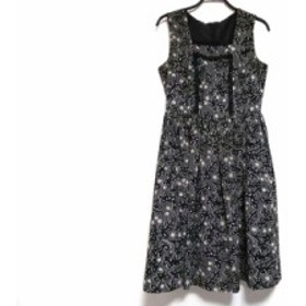 ロイスクレヨン Lois CRAYON ワンピース サイズM レディース グレー×黒×アイボリー 花柄【中古】20191107