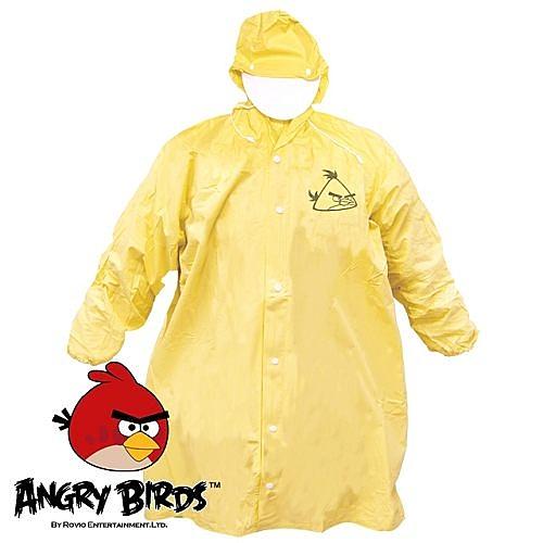 AA0978  [Waterproof] 憤怒鳥全開式PVC兒童雨衣(亮黃)  221752YL