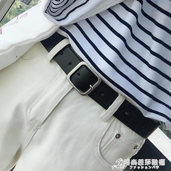 腰帶 chic柔軟女生皮帶配牛仔褲腰帶韓國簡約百搭造型ins風學生黑 裝飾 時尚芭莎