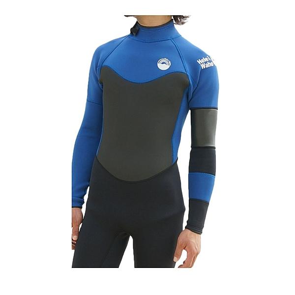[超彈] HeleiWaho 防寒衣 潛水衣 3mm 衝浪衣 潛水 衝浪 溯溪 泛舟 SUP 自由潛水 浮潛深海藍現貨