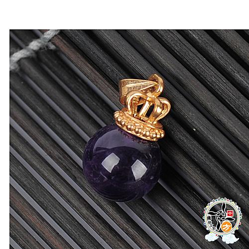 紫晶球 王冠墜飾 【 十方佛教文物】
