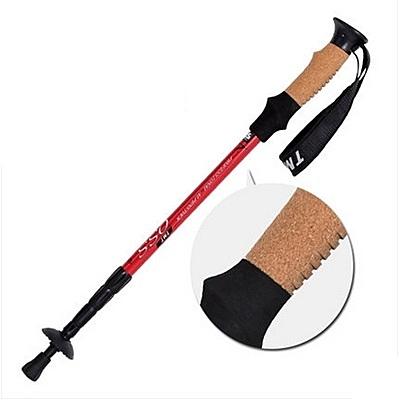 登山杖-軟木舒適手柄爬山必備用品透氣好拿拐杖5色71c11【時尚巴黎】