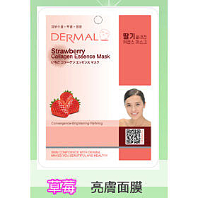 ◇天天美容美髮材料◇ 韓國DERMAL 草莓抗老化亮膚面膜 1入 [42757]