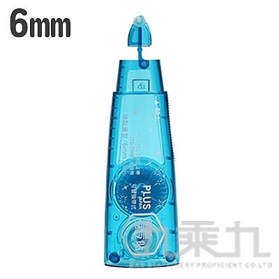 PLUS norino 豆豆彩貼替帶 藍6mm