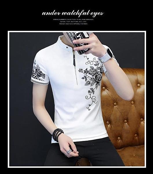 [協貿國際]2件裝夏季男士新款拉鏈短袖T