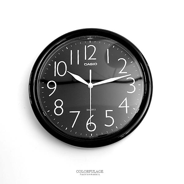 時鐘 CASIO簡約現代全黑掛鐘 柒彩年代【NVC2】原廠公司貨