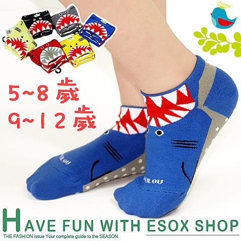 【衣襪酷】pb 小鯊魚兒童止滑襪(5~8歲/9~12歲) 台灣製造《寶寶襪/短襪/嬰兒襪/防滑襪/直版襪》