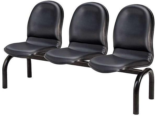 HP441-12 五人座排椅(黑皮)TS-20/成型泡綿
