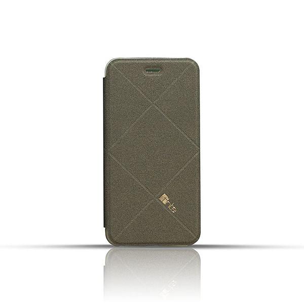 fnte iPhone 6 Plus/i6s plus 輕薄菱格皮套-檀石黑