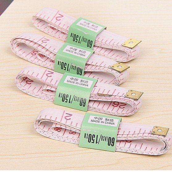 日常居家實用 軟尺 縫紉尺 量衣尺 塑膠量體皮尺(10入)