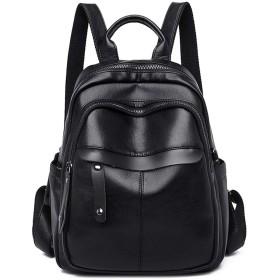 10代の少女の旅行バックパックリュックサック、黒人女性のバックパック女性ソフトPUレザーブックスクールバッグ