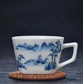 陶瓷功夫茶杯 德化骨瓷 有耳小茶杯 5個/組