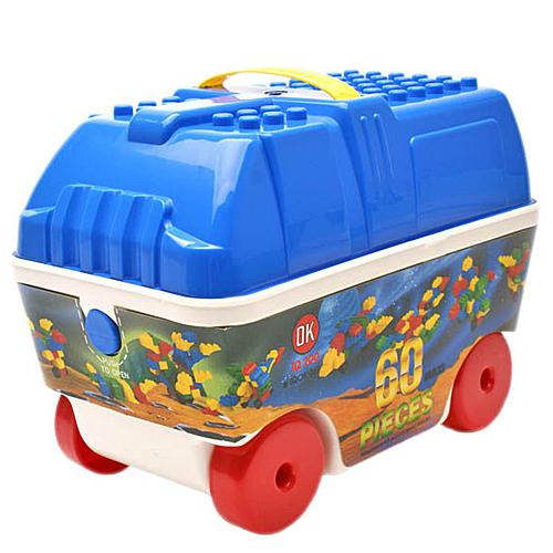 《 OK-369 》車子收納箱益智大顆粒積木組 60 pcs╭★ JOYBUS玩具百貨