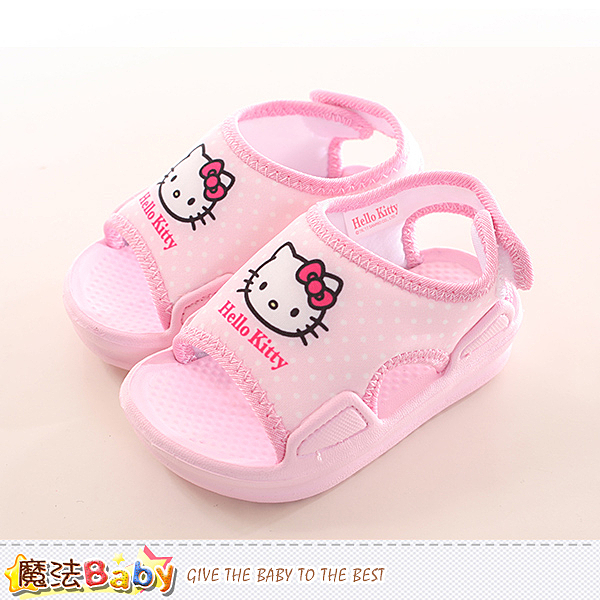 寶寶鞋 Hello kitty授權正版女童涼鞋 魔法Baby