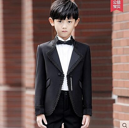 兒童禮服男 童裝禮服男童西裝禮服套裝5件套春韓版 花童禮服男