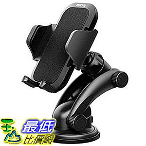 Mpow儀表板車載手機座 一鍵式設計和可清洗強力粘性膠墊 適用 iPhon 谷歌 華為 黑 [8美國代購]