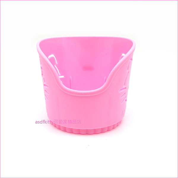 asdfkitty可愛家☆KITTY紙杯架-3入-放紙杯.塑膠杯-喝熱飲不燙手-日本正版商品