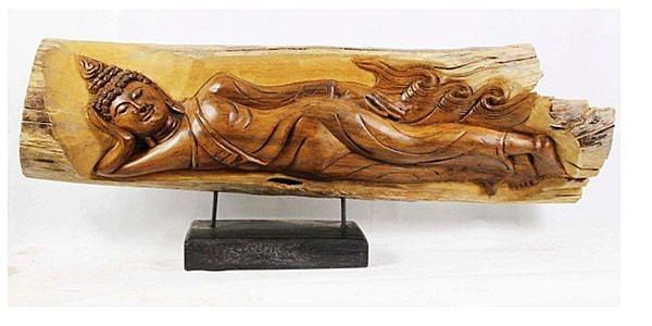 東南亞   泰式木雕 擺件 工藝品 臥佛